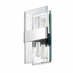 Mercer Street 2 Light Bathroom Sconce - Polished Chrome