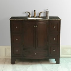 "40"" Grand Cheswick Single Vanity - Dark Cherry/Baltic Brown"