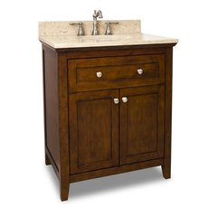 "30"" Chatham Shaker Single Sink Vanity - Chocolate"