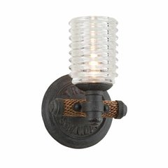 Embarcadero 1 Light Bathroom Sconce - Shipyard Bronze