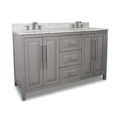 """60"""" Cade Contempo Double Sink Bathroom Vanity - Gray"""