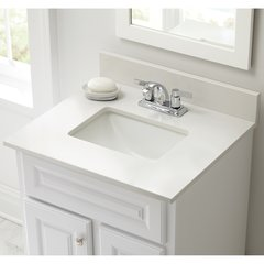 "25"" x 22"" Single Bowl Vanity Top Only w/ Basin -Winter White"