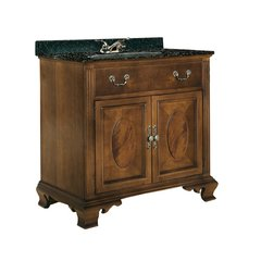 "36"" Dorchester Single Sink Vanity w/ Black Top- Brown Cherry"