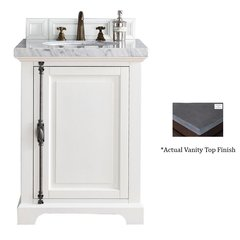 "26"" Providence Vanity w/ Black Rustic Top - Cottage White"
