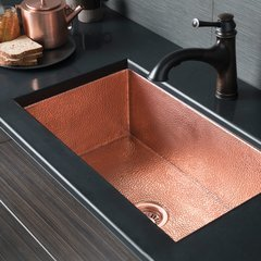 "30"" x 18"" Cocina Farm House Kitchen Sink -Antique Copper"
