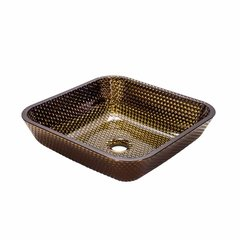 "15-3/4"" x 15-3/4"" Cubix Vessel Bathroom Sink - Copper"