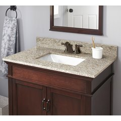 Granite Single Bowl Vanity Countertops by Halstead