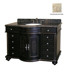 "48"" Arlington Single Sink Vanity w/ Gold Top - Ebony"