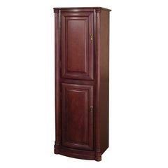 "54"" Wingate Bathroom Linen Cabinet - Deep Cherry"