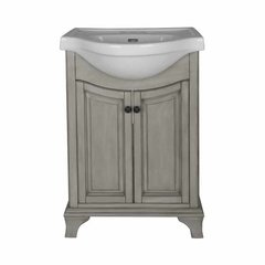 "26"" Corsicana Single Sink Bathroom Vanity - Antique Gray"