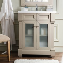 "30"" Weston Single Vanity w/ Snow White Top-Sea Gull"