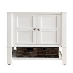 """36"""" Madison Single Cabinet only w/o Top - Cottage White"""