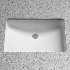 "20"" x 14"" Undermount Bathroom Sink - Cotton White"