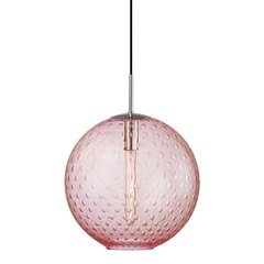 Rousseau 1 Light Island Pendant - Polished Chrome/Pink Glass