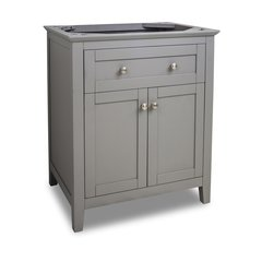 "30"" Chatham Shaker Single Cabinet Only w/o Top - Gray"