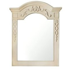 "40"" X 29"" European Traditions Wall Mount Mirror Vint Vanilla"