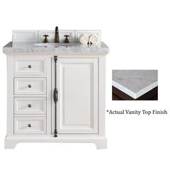 "36"" Providence Vanity w/Cararra White Top - Cottage White"