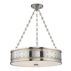 Gaines 4 Light Pendant - Polished Nickel