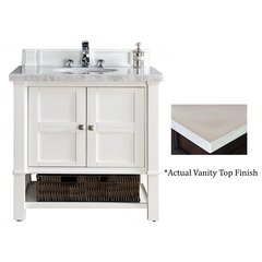 "36"" Madison Single Vanity w/Galala Beige Top - Cottage White"