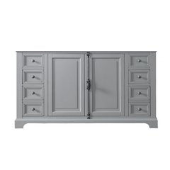 """60"""" Providence Double Cabinet only w/o Top - Urban Gray"""
