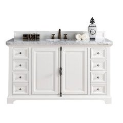 "60"" Providence Single Sink Vanity w/ Quartz Top - Cottage White"