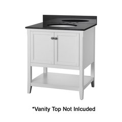 "30"" Auguste Cabinet Only w/o Top - White"