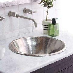 "17-1/2"" Round Cazo Drop-In Bathroom Sink - Brushed Nickel"