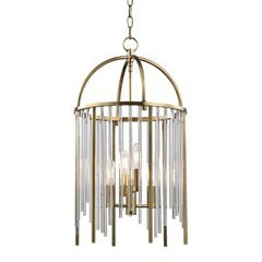 Lewis 4 Light Pendant - Aged Brass