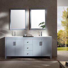 "72"" Hanson Double Sink Bathroom Vanity - Gray"