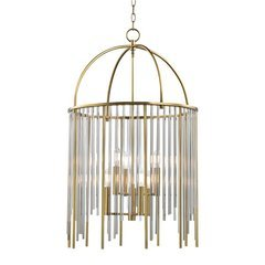 Lewis 6 Light Pendant - Aged Brass
