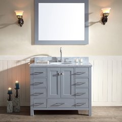 "43"" Cambridge Single Sink Bathroom Vanity - Gray"