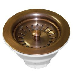 "3-1/2"" Round Basket Strainer - Solid Copper"