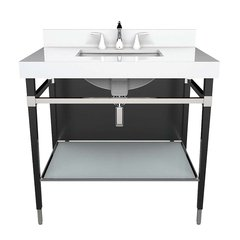 "36"" Montallegro Single Sink Bathroom Vanity - Black"