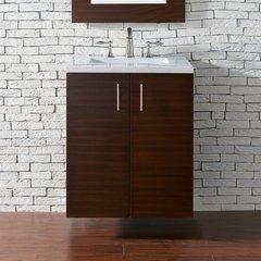 "24"" Metropolitan Single Vanity Cabinet Only-American Walnut"
