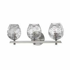 Burns 3 Light Bathroom Vanity Light - Satin Nickel