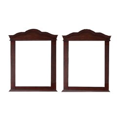 "40"" x 32"" Florentine Wall Mount Mirror (Set of 2) - Cherry"