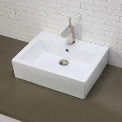 "DECOLAV Bluebell 22-3/8"" x 18"" Above Counter Bathroom Sink"