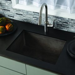 "24"" x 18"" Farmhouse Reversible Kitchen Sink - Slate"