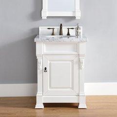 "26"" Brookfield Vanity w/ Cararra White Top - Cottage White"