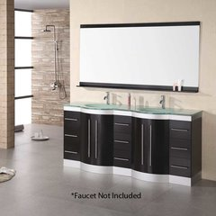 "72"" Jade Double Sink Bathroom Vanity - Espresso"