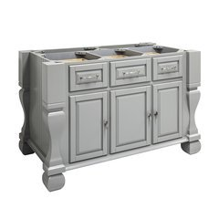 53 inch Tuscan Kitchen Island with o Top - Grey <small>(#ISL01-GRY)</small>