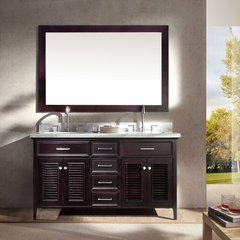 "61"" Kensington Double Sink Bathroom Vanity - Espresso"
