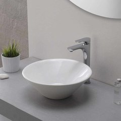 Aquila One Handle Vessel Bathroom Faucet w/ Drain - Chrome
