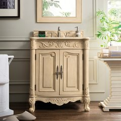"30"" St. James Single Vanity w/Galala Beige Top-Parchment"