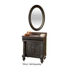 "30"" Guild Hall Single Vanity w/ Brown Top - Distressed Black"