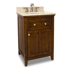 "24"" Chatham Shaker Single Sink Vanity - Chocolate"