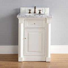"26"" New Haven Single Vanity w/ Absolute Black Top-Cott White"
