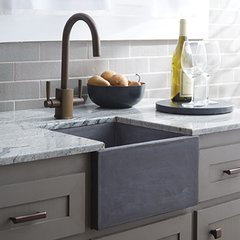 "15"" Square Ventana NativeStone Drop In Bar Sink - Slate"