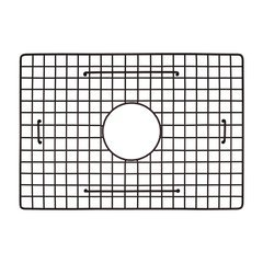 "18-1/2"" x 13"" Kitchen Sink Bottom Grid - Mocha"