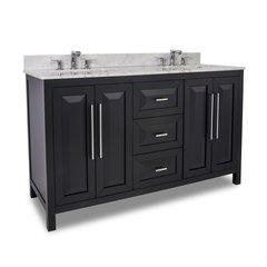 """60"""" Cade Contempo Double Sink Bathroom Vanity - Black"""